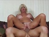 Blonde Jordan Blue with big tits gets cum into the vagina