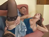 Stepdaddy Catches Cute Teen Masterbating and Horny