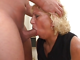 Hot blonde mature whore loves anal sex