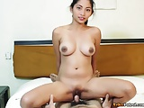 Young Filipina girl with amazing tits gets her pussy hard cock